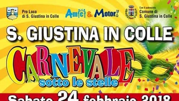 """""""Carnevale sotto le stelle"""", gran finale con lotteria e sfilate a Santa Giustina in Colle"""