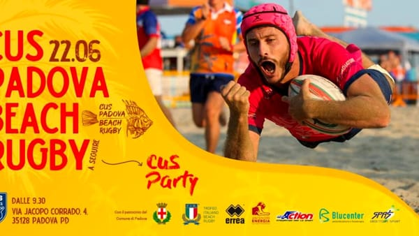 Beach rugby, appuntamento al Cus Padova