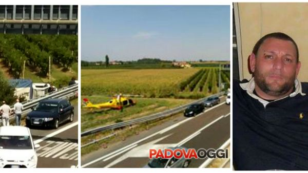 In foto: le immagini dell'incidente; Fabrizio Cesaro (fonte facebook)