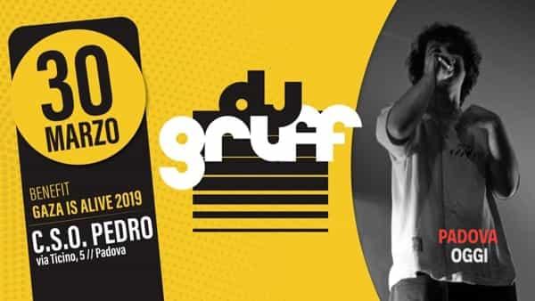 Dj Gruff live, serata benefit Gaza is Alive 2019