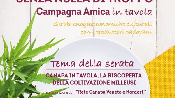 """Incontri tra cultura ed enogastronomia """"La canapa in tavola"""" al ristorante """"N'altraroba"""" di Rubano"""