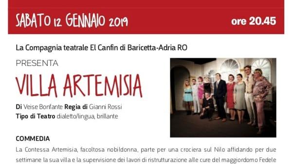 """Spettacolo """"Villa artemisia"""" a Legnaro"""