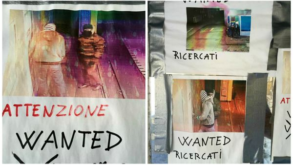 "I cartelli ""wanted"" (fonte Facebook)"