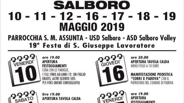 Festa di San Giuseppe lavoratore a Salboro