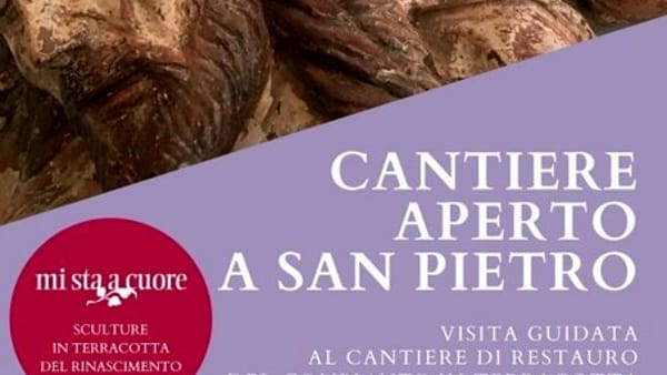 """""""Cantiere aperto a San Pietro"""", visite guidate al restauro della chiesa"""