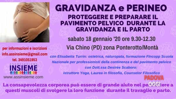 """A Padova l'incontro """"Gravidanza e perineo: proteggerlo e prepararlo per il parto"""""""