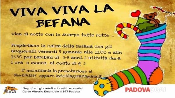 Viva, viva la Befana: laboratorio creativo presso la giraffa Gina
