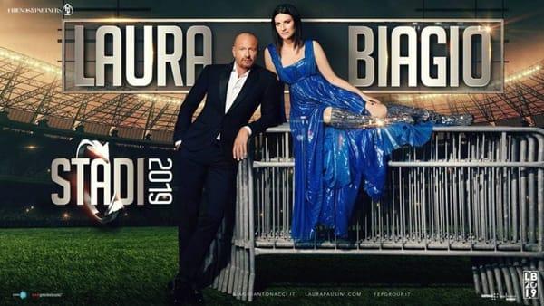 Laura Pausini e Biagio Antonacci, live allo stadio Euganeo di Padova