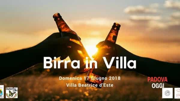 """""""Birra in villa"""", birre artigianali e specialità dei colli Euganei a Villa Beatrice d'Este"""