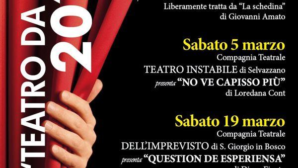 """""""Teatro da ridere"""" a Battaglia Terme con """"Ghemo fato tredese"""""""