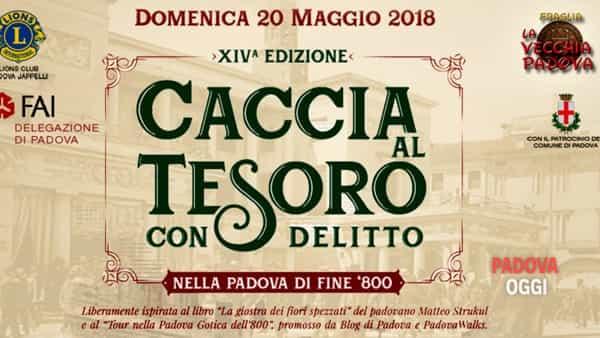 Caccia al tesoro con delitto nella Padova di fine Ottocento: la sfida in cento città