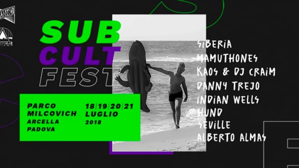 Sub Cult Fest 2018 al parco Milcovich