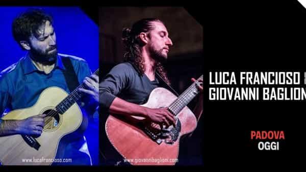 Luca Francioso e Giovanni Baglioni in concerto a Lozzo Atestino