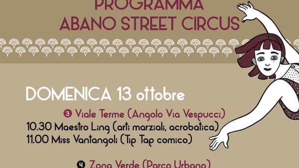 Abano Street Circus Programma di domenica 13 ottobre-2