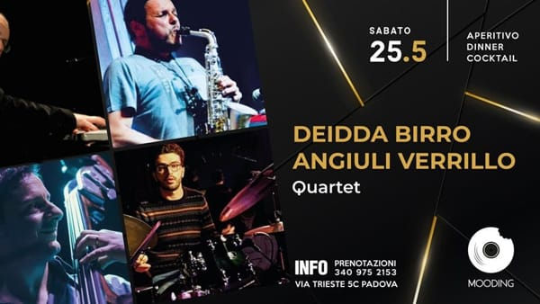 """Deidda-Birro-Angiuli-Verrillo Quartet"" jazz al Mooding Padova"