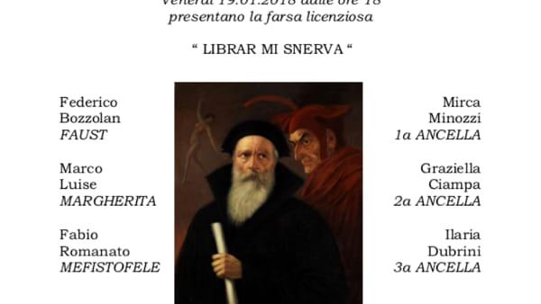 """Spettacolo teatrale """"Librar mi snerva"""" alla Libreria Minerva"""