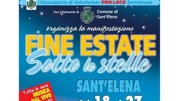 """Sagra patronale e """"Fine estate sotto le stelle"""" alla barchessa di Sant'Elena"""