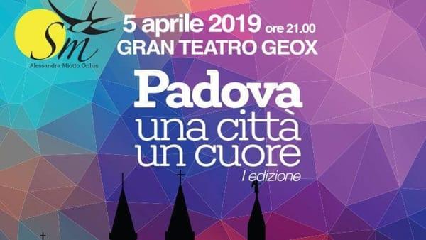 """Concerto """"Padova una città un cuore"""" al Gran teatro Geox"""