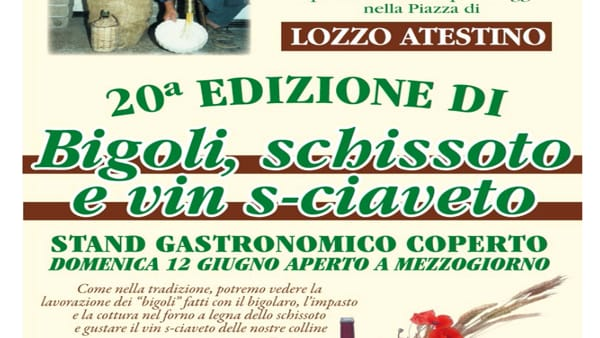 Festa dei bigoli, schissoto e vin s-ciaveto a Lozzo Atetstino