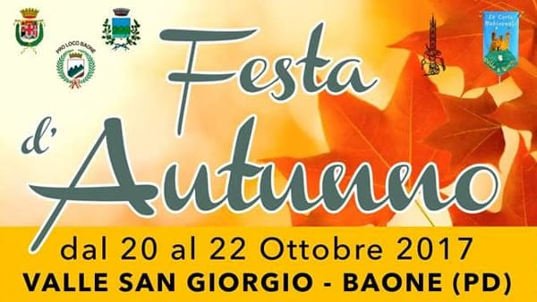 Festa d'autunno a Valle San Giorgio