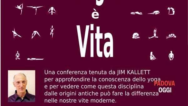 "Conferenza ""Yoga è vita"" tenuta da Jim Kallett"