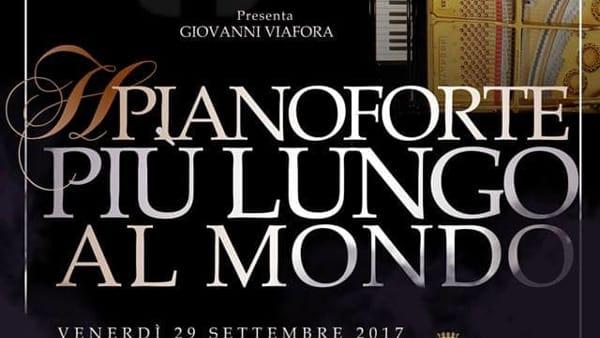 """""""Il pianoforte più lungo al mondo"""", concerto-evento in esclusiva al Palazzo della Ragione"""