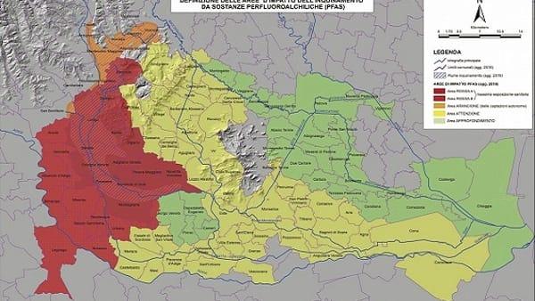 Cartina Dei Comuni Del Veneto.Pfas La Giunta Del Veneto Allarga La Mappa Dei Comuni Inquinati L Elenco Completo