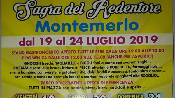 Sagra del Redentore e Arena Giovani a Montemerlo