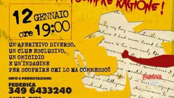 """""""Sherlock's Club"""", aperitivo all'insegna del giallo al Born Caffè diPonte di Brenta"""