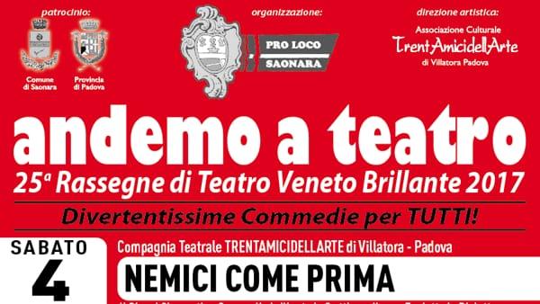 """""""Villa Artemisia"""", spettacolo per la rassegna """"Andemo a teatro"""" a Saonara"""