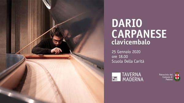 Taverna Maderna: Dario Carpanese in concerto alla Scuola della Carità