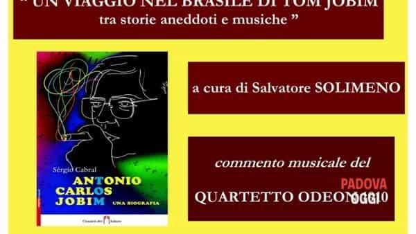 """""""Un viaggio nel Brasile di Tom Jobin tra storie aneddoti e musiche"""" a palazzo Zacco Armeni"""