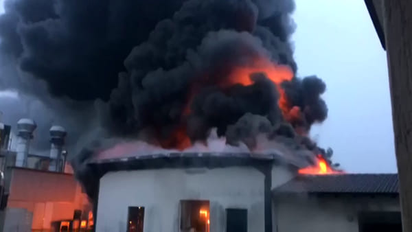 I video dell'incendio alla Rotogal