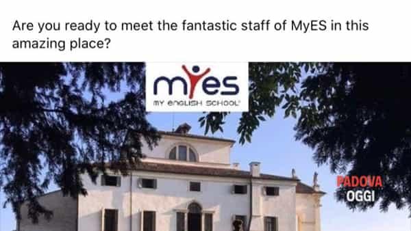 """Villa Molin welcomes myes"", lezione d'inglese con my English School"