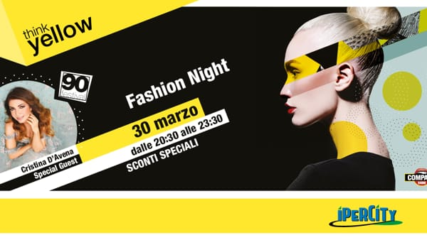 """Fashion Night"" all'Ipercity: moda, sconti e musica con Cristina D'Avena"