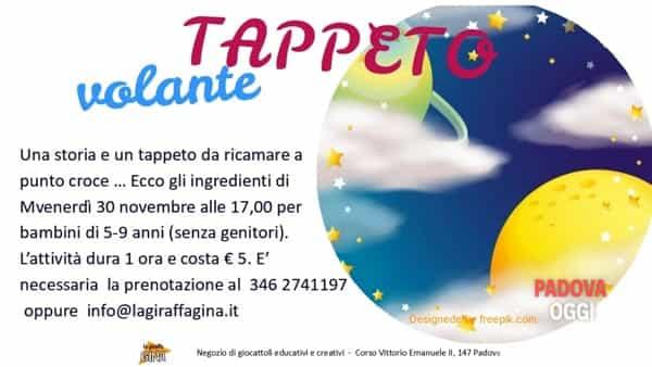 """""""Tappeto volante"""", giocolaboratorio per bambini al negozio """"La giraffa Gina"""""""
