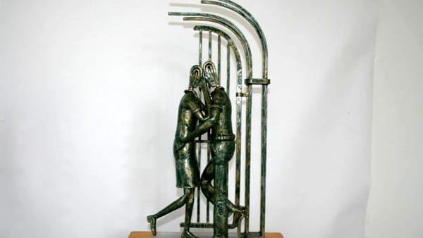 Giuseppe Mantoan in mostra con le sculture in ferro a Este