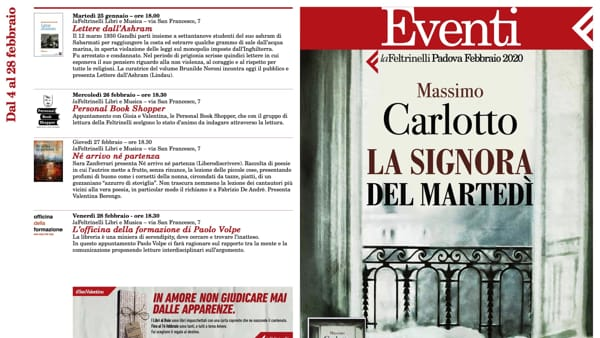 """Massimo Carlotto presenta """"La signora del martedì"""" al Caffè Pedrocchi"""