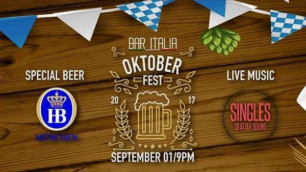 Oktoberfest / Singles Seattle Sound al Bar Italia di Gazzo