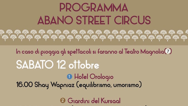 Abano Street Circus Programma di sabato 12 ottobre-2