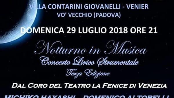 """""""Notturno in musica"""", concerto a Villa Contarini Giovanelli-Venier"""