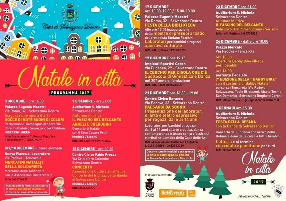 Tutti Gli Eventi Del Natale A Selvazzano Dentro Dall 8 Dicembre 2017 Al 6 Gennaio 2018 Eventi A Padova