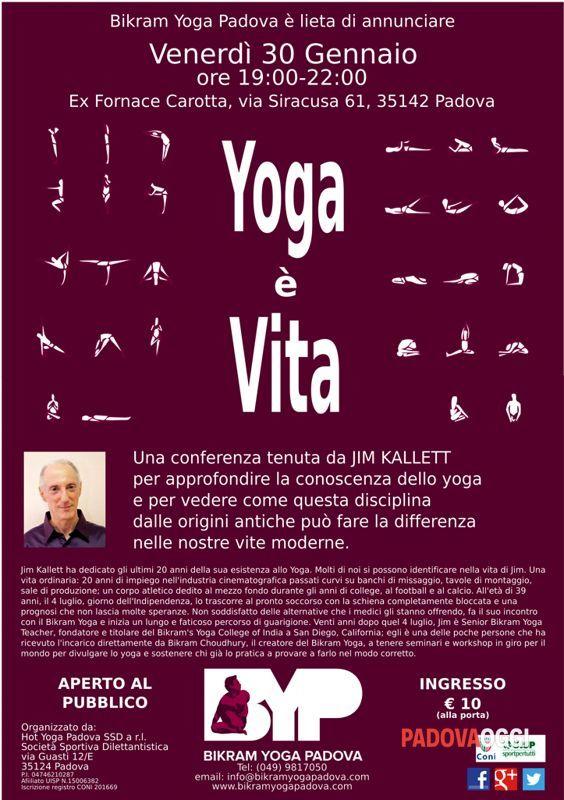"""Conferenza """"Yoga è vita"""""""