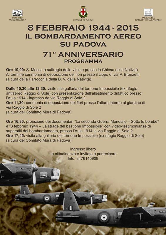 Celebrazioni 71° Anniversario del bombardamento aereo su Padova