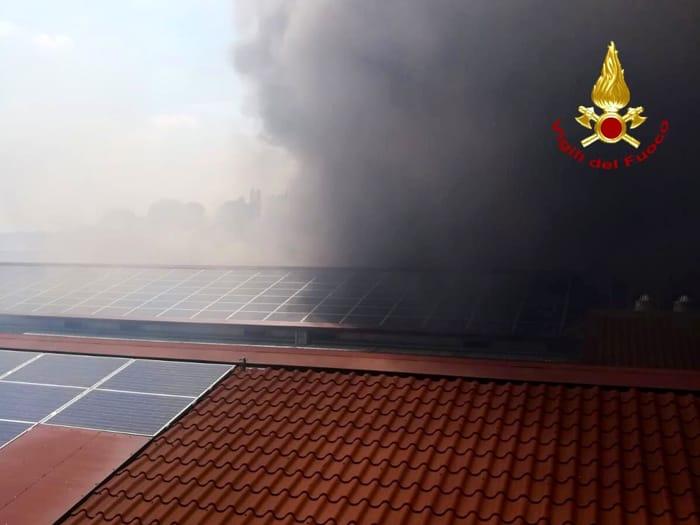L'incendio che ha fatto strage di polli