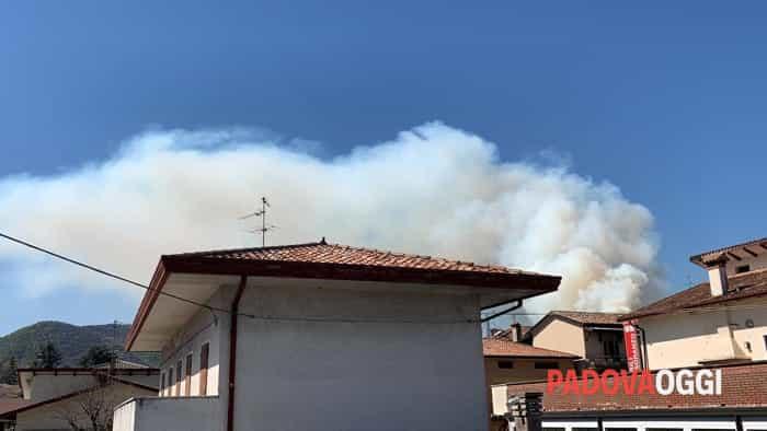 Boschi in fiamme: incendio sui Colli