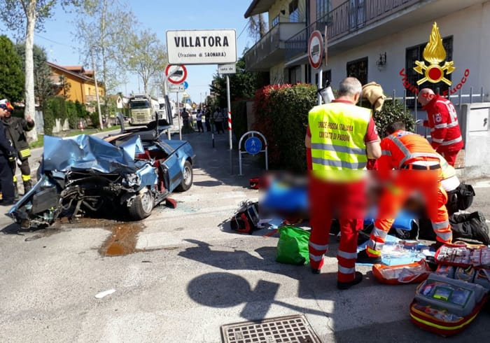Incidente mortale a Villatora di Saonara