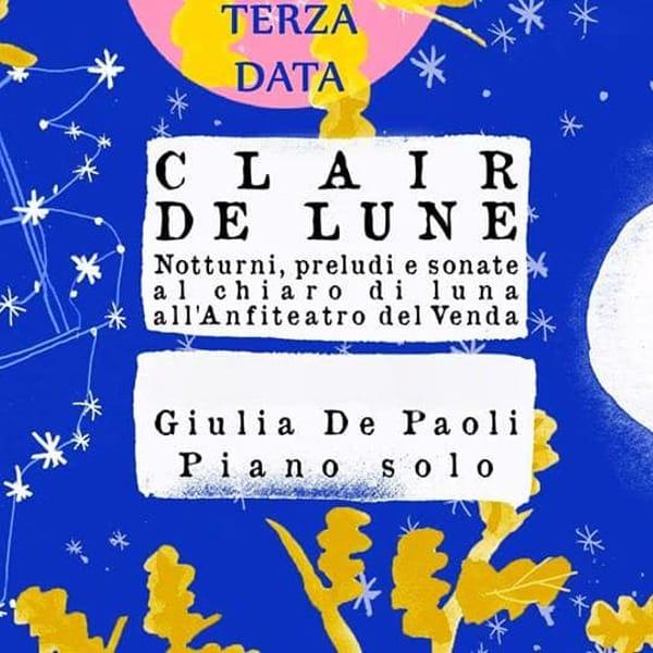 Clair de Lune- notturni, preludi e sonate. Terza data! 29 luglio 2017-2